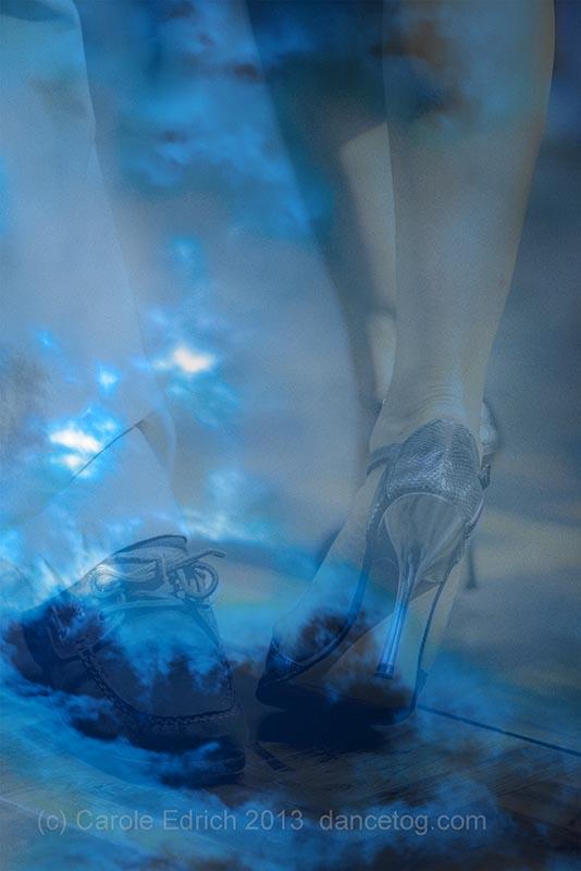 abstract tango legs and night sky. (c) Carole Edrich 2013