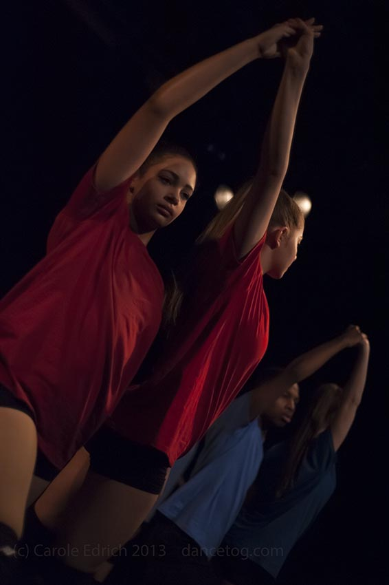 Anna-Lise Marie Hearn's choreography of Landfill performed by One Youth Dance at Presence, (c) Carole Edrich 2013
