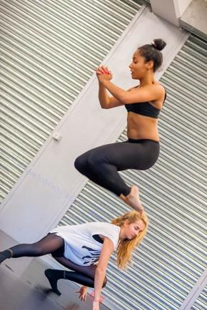 One Youth Dance rehearsing for 'Presence', (c) Carole Edrich 2013