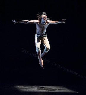 Sean Graham at East London Dance's 25th anniversary celebrations, (c) Carole Edrich 2013