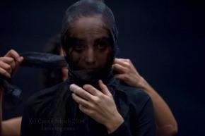 Maria Fonseca and Ekin Bernay preparing for Red Tears at Resolution!, (c) Carole Edrich 2014