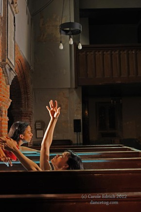 Shobana Jeyasingh's Too Mortal at St Mary's Church, Clissold Park, (c) Carole Edrich 2012