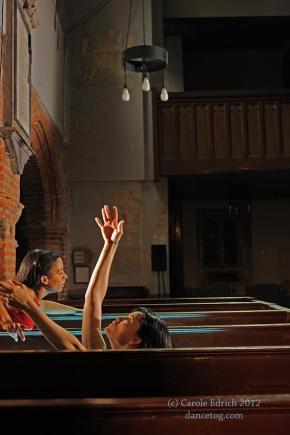 Shobana Jeyasingh's Too Mortal at St Mary's Church, Clissold Park, (c) Carole Edrich 2012