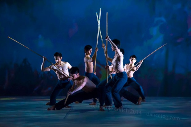 Performance of 'Fire' by Cloud Gate Dance Theatre of Taiwan, (c) Carole Edrich 2014