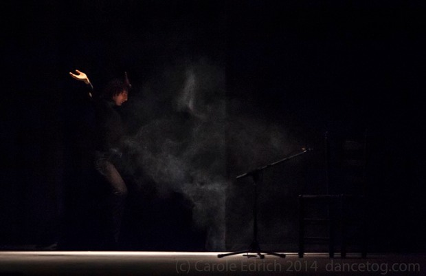 "Angel Munoz performing ""Angel. From White to Black"" at Sadler's Wells Flamenco Festival 2014, (c) Carole Edrich 2014"