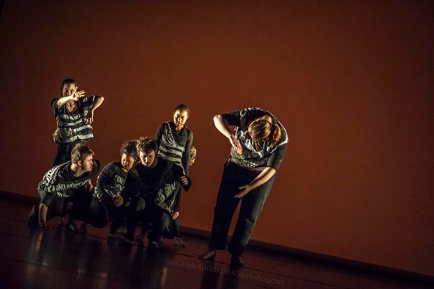 Magpie Dance Youth Group performing Flowers No More in U.Dance London at Trinity Laban, (c) Carole Edrich 2014