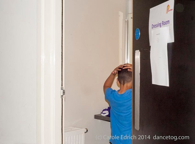 Backstage at Platform, preparing for the performance, (c) Carole Edrich 2014