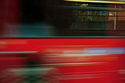 bus at shutter speed of one tenth of a second