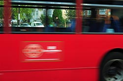 bus at shutter speed of one fiftheth of a second