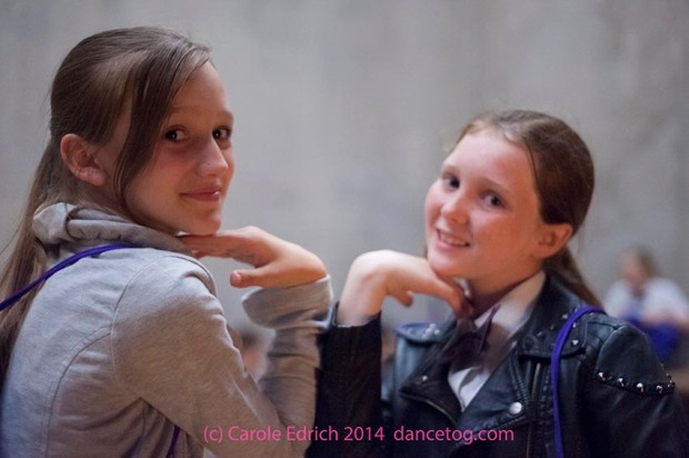 Drying out after the dance, part of the National Youth Dance Festival Fringe, (c) Carole Edrich 2014