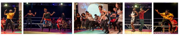 'Funmi Adewole's opening of the Southbank Centre's Africa Utopia with A Brief Look at Dance in Africa, (c) Carole Edrich