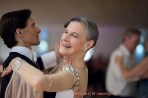 Benny Maslov and partner dancing socially at Last Day of Summer Party, (c) Carole Edrich 2014