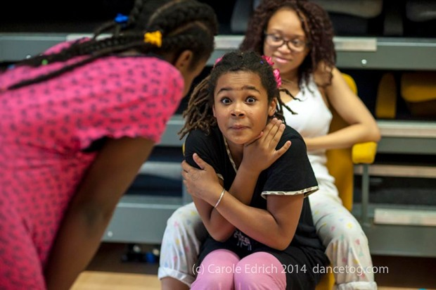 Young dancers taking time out at the One Youth Dance Pyjama Danceathon, (c) Carole Edrich 2014