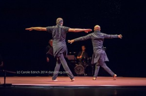 Israel Galvan and Akram Khan (L-R) at Sadler's Wells in Torobaka, (c) Carole Edrich 2014