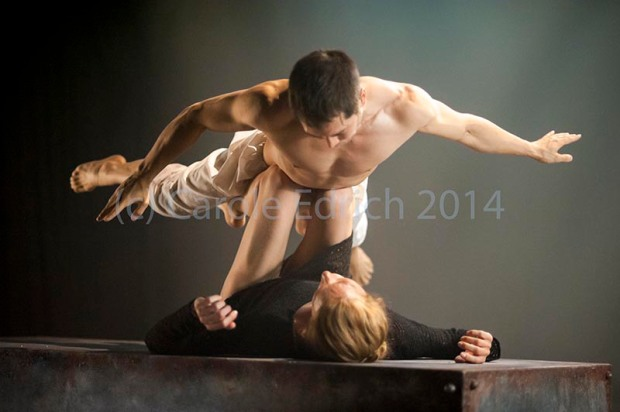 Tommy Franzen and Zenaida Yanowski in Kim Brandstrup's film based on Leda and the Swan, (c) Carole Edrich 2014