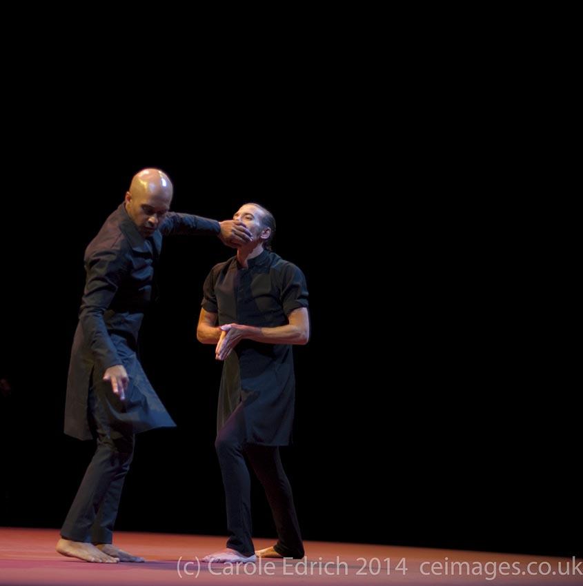 Israel Galvan and Akram Khan (L-R) at Sadler's Wells in Torobaka, (c) Carole Edrich 2014