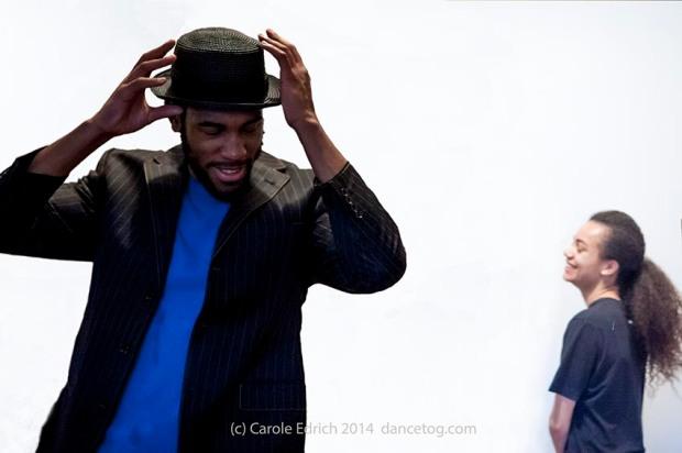 Tyrone Isaac-Stuart and Jasmine Breinburg in a Parshmaune performance, (c) Carole Edrich 2015