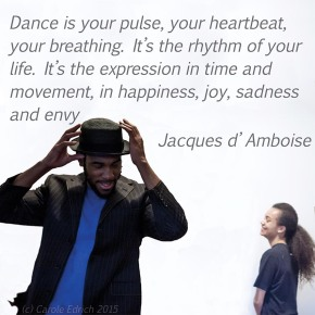 Tyrone Isaac-Stuart and Jasmine Breinburg in a Parshmaune performance and quote by Jacques d'Amboise, (c) Carole Edrich 2015