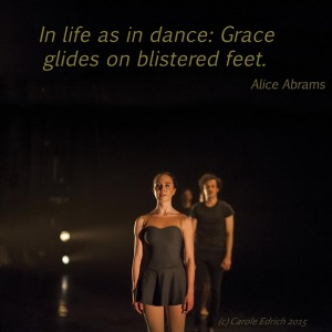 Photograph of Gandini Juggling and the Royal Ballet and quote from Alice Abrams