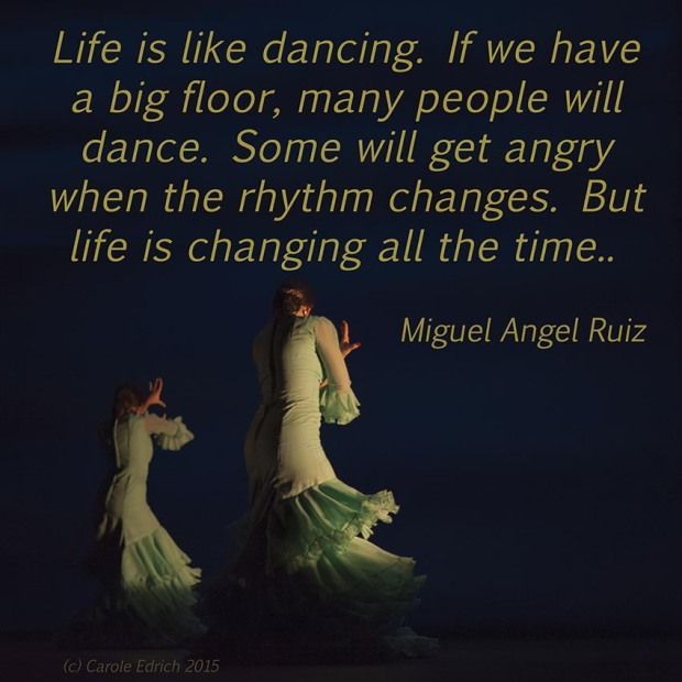 Dancers from Gala Flamenco, Sadler's Wells Flamenco Festival and quote from Miguel Angel Ruiz, (c) Carole Edrich 2015