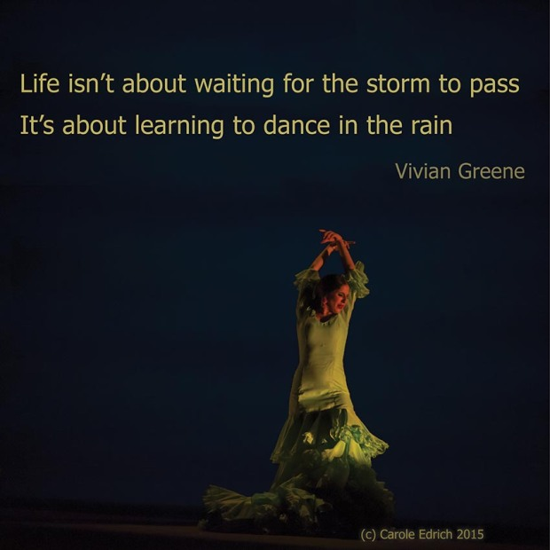 Dancer from Gala Flamenco, Sadler's Wells Flamenco Festival and quote from Vivian Greene, (c) Carole Edrich 2015