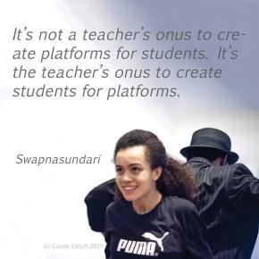 Tyrone Isaac-Stuart and Jasmine Breinburg in a Parshmaune performance and quote by Swapnasundari, (c) Carole Edrich 2015