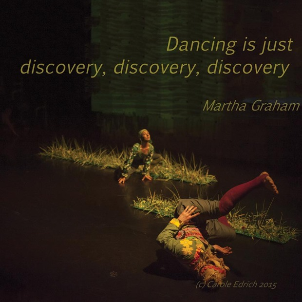 Varmints at Sadler's Wells and a quote by Martha Graham, (c) Carole Edrich 2015