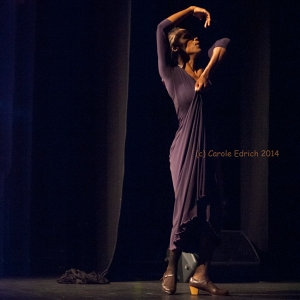 Yinka Esi Graves performing flamenco as part of Dot Dot Dot