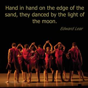 Quote by Edward Lear and shot of Richard Alston Company dancing the Britten Sinfonia