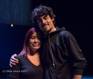 Belén Castres and José Carmona backstage at Sadler's Wells, (c) Carole Edrich February 2017