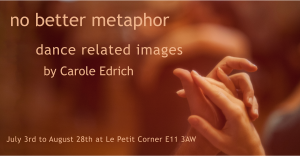 Poster for exhibition of images at Le Petit Corner, Leytonstone