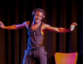 Sonny Nwachukwu in performance by Beth Watton